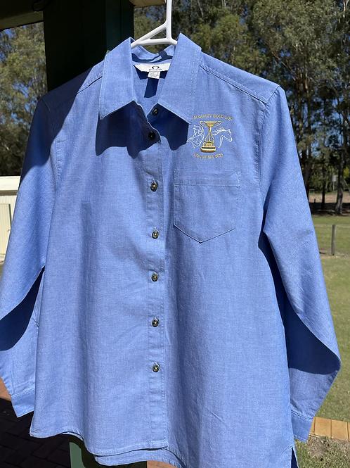 Ladies Chambray Cotton L/S Shirt