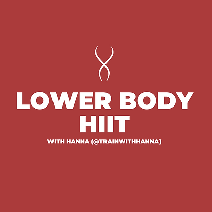 Lower Body HIIT with Hanna (April 27)