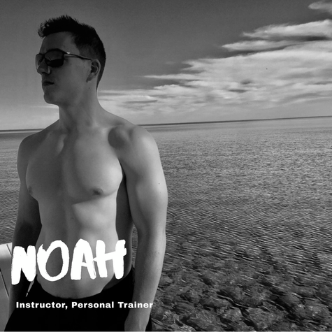 """We asked Noah...  Q: One week without a workout or one week without a shower? A: One week without a workout  Q: Eat the same food for every meal for one month or eat each of your meals blended for a week? A: Same food  Q: Pizza or pasta? A: Pizza  Q: Nike or Adidas? A: Nike  Q: Split squats or squat press? A: Split squats  Q: Hills or sprints? A: Sprints!  Q: Burpees or deadlifts? A: Burpees.  Q: Biggest fitness inspiration? A: Claudio 😂  Q: Assault bike sprints or rowing sprints? A: Assault bike  """"If it's not sustainable, it's questionable"""""""