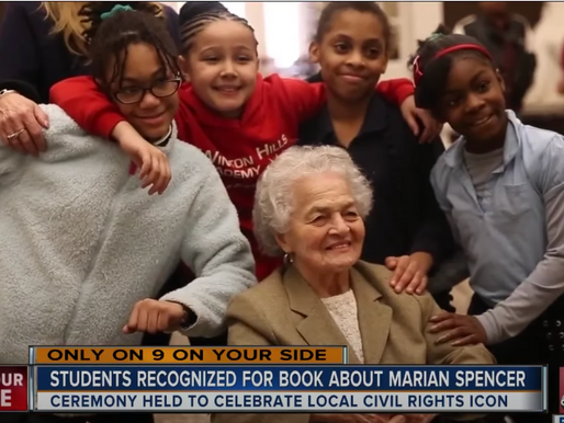 WHA Students Win National Book Writing Contest for Marian Spencer book