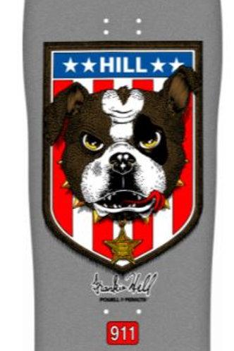 Powell Peralta Frankie Hill Bull Dog Skateboard Deck Silver Reissue - 10 x 31.5
