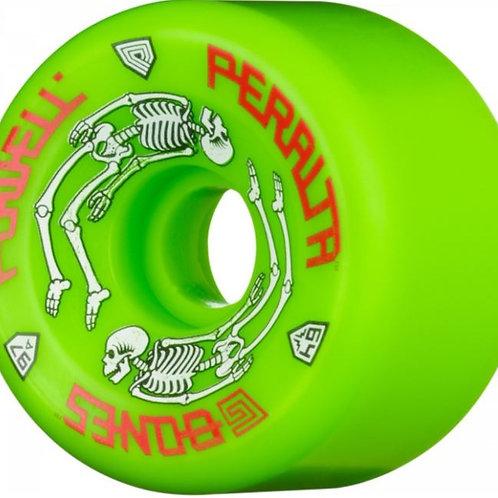 Powell Peralta G-Bones Skateboard Wheels 64mm 97a - Green (4 pack)