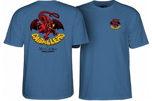 Powell Peralta Steve Caballero Dragon II T-Shirt Slate Blue