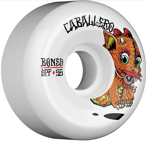 BONES WHEELS SPF Pro Caballero Baby Dragon Skateboard Wheels Sidecuts 56mm 84B 4