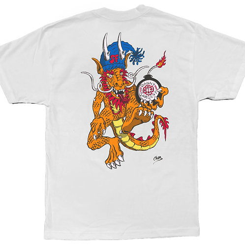 NEW DEAL x STEVE CABALLERO Artist Edition  Limited Skate Shirt - White