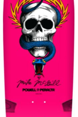Powell Peralta McGill Skull and Snake Skateboard Deck Hot Pink - 10 x 30.125