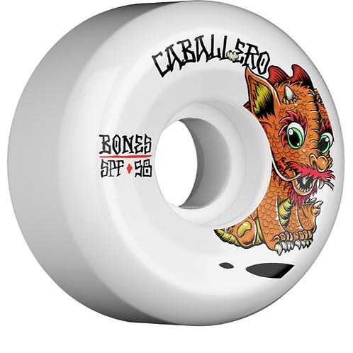 BONES WHEELS SPF Pro Caballero Baby Dragon Skateboard Wheels Sidecuts 58mm 84B 4