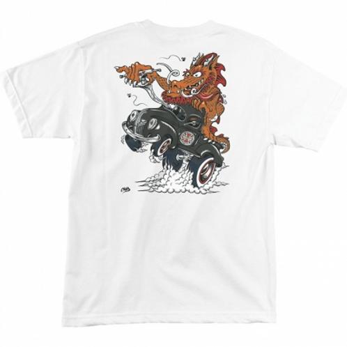 Cab Dragster (White) Independent Mens T-Shirt