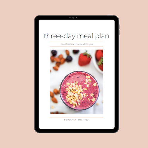 3-day meal plan