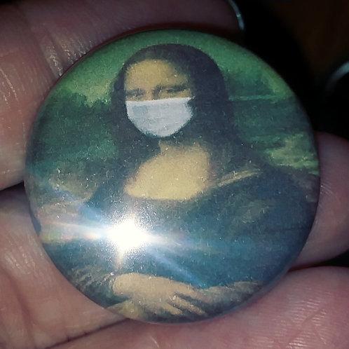 Mona Lisa with a mask