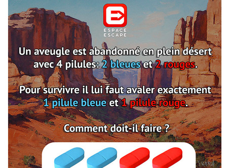Solution Enigme des 4 Pilules