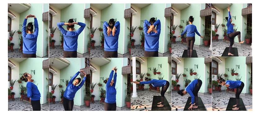 Priyanka doing hast Vinyasa