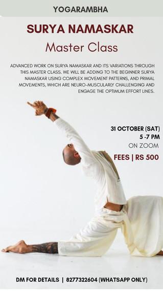 Yogarambha Surya Namaskara