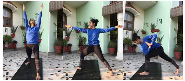 Priyanka doing 3 hip positions