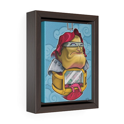 Bulman - Krang/daruma - Vertical Framed Premium Gallery Wrap Canvas