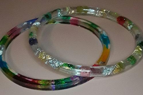 Rainbow Child bangle set