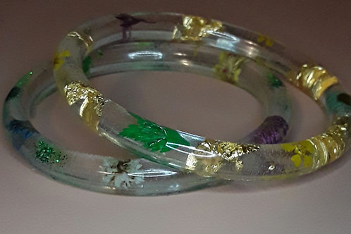 Nature goddess bangle set