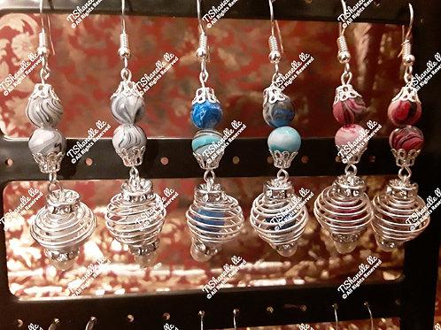 Color me spiral earrings