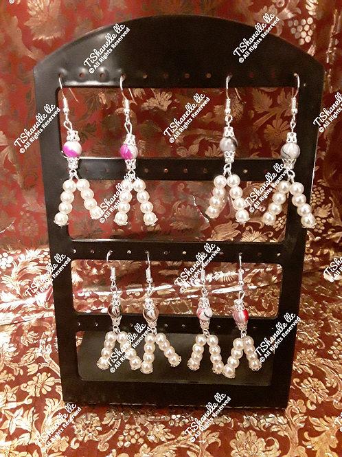 Pearl Rock earrings
