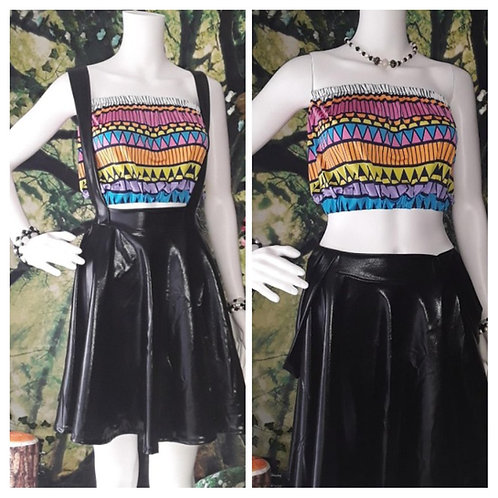 Patent Leather Circle Skirt