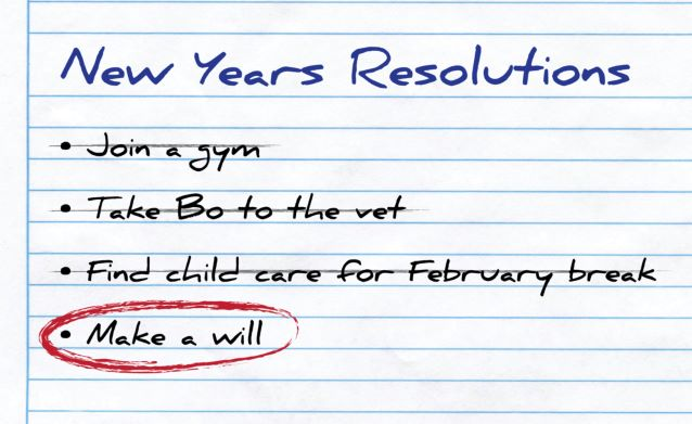 Why Creating a Will Should be your #1 New Year's Resolution.