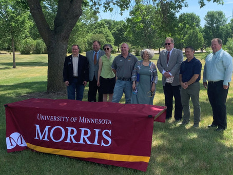 University of Minnesota - Morris celebrates one year of carbon-neutrality with visit from new Regent
