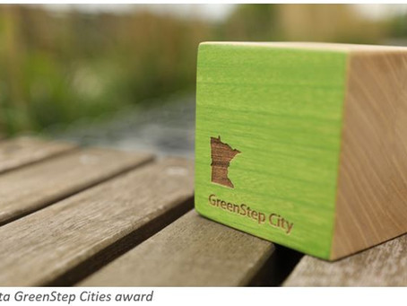 Morris receives award for advancing to Step 4 in the Minnesota GreenStep Cities program!