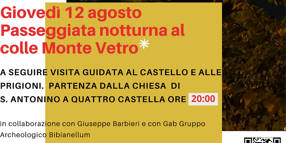 Passeggia notturna + VISITA ALLE PRIGIONI E CASTELLO