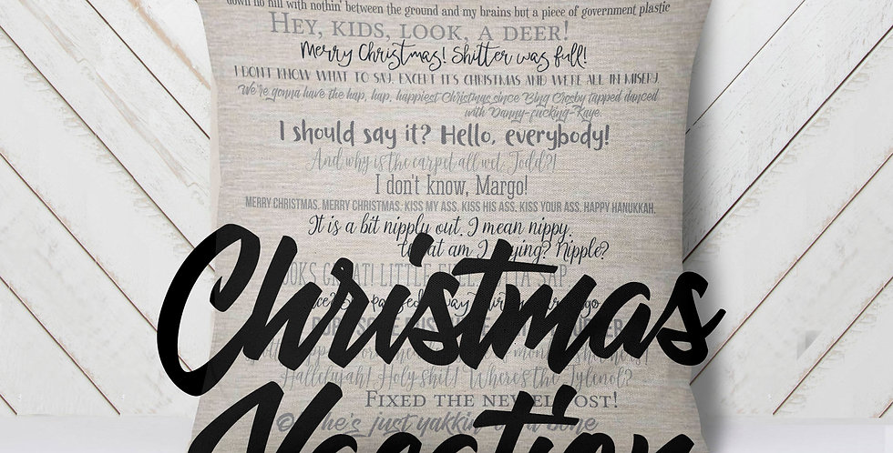 Christmas Vacation movie quote pillow 18x18inch - movie quotes - mature listi...