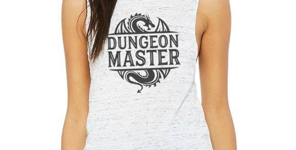 Dungeon Master tank top - feminine flowy muscle tank - printed with eco frien...