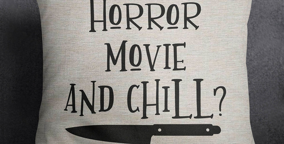 Horror Movie and Chill? - pillow cover - 18x18inch pillow cover - insert avai...