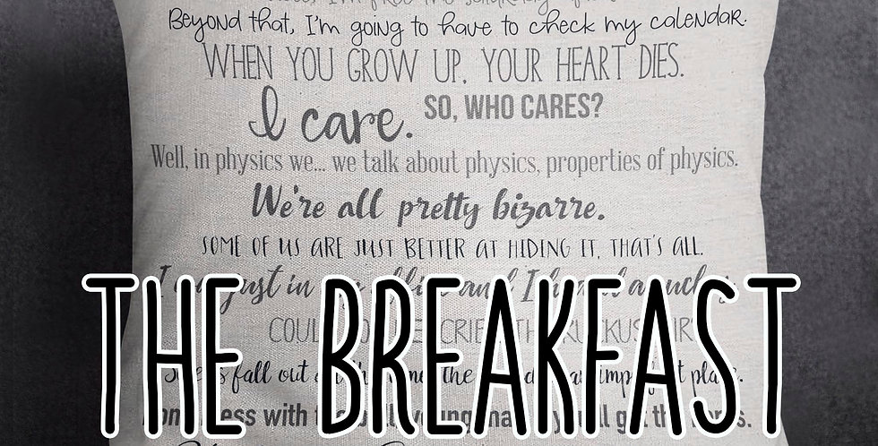 The Breakfast Club movie quote pillow cover - 18x18inch pillow cover - movie ...