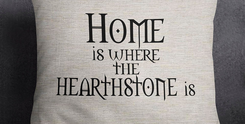 Home is where the Hearthstone is - pillow cover - machine washable - permanen...