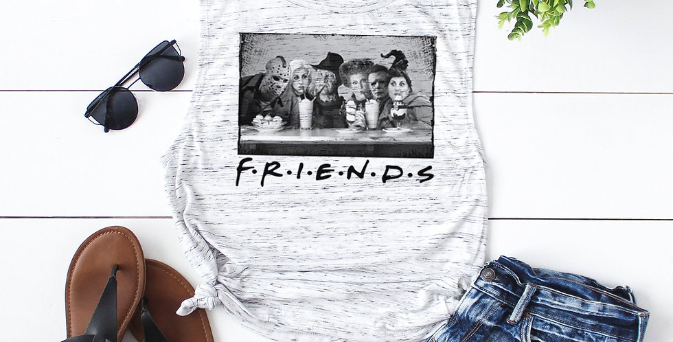 Friends parody halloween shirt - horror icons - feminine flowy muscle tank - ...