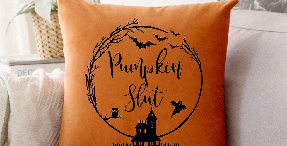 Mature listing - Pumpkin decor - Halloween Decor - Pumpkin slut pillow cover ...