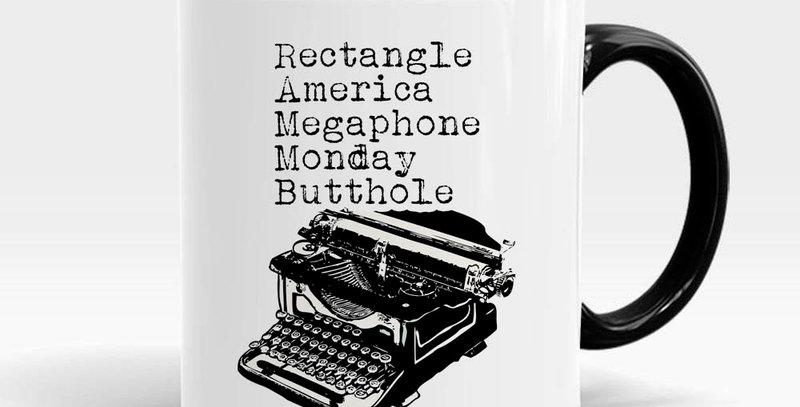 Ron Swanson Parks and Rec typewriter coffee mug