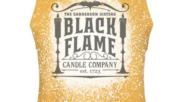 Black Flame Candle Company racerback cropped tank