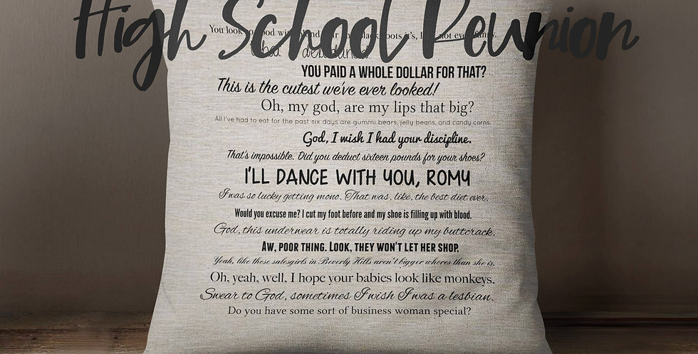 Romy & Michele's High School Reunion movie quote pillow movie quotes - movies...