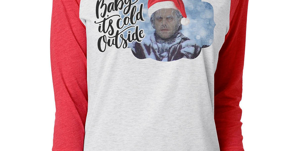 The Shining - Baby it's cold outside - unisex raglan - jack torrence stephen ...