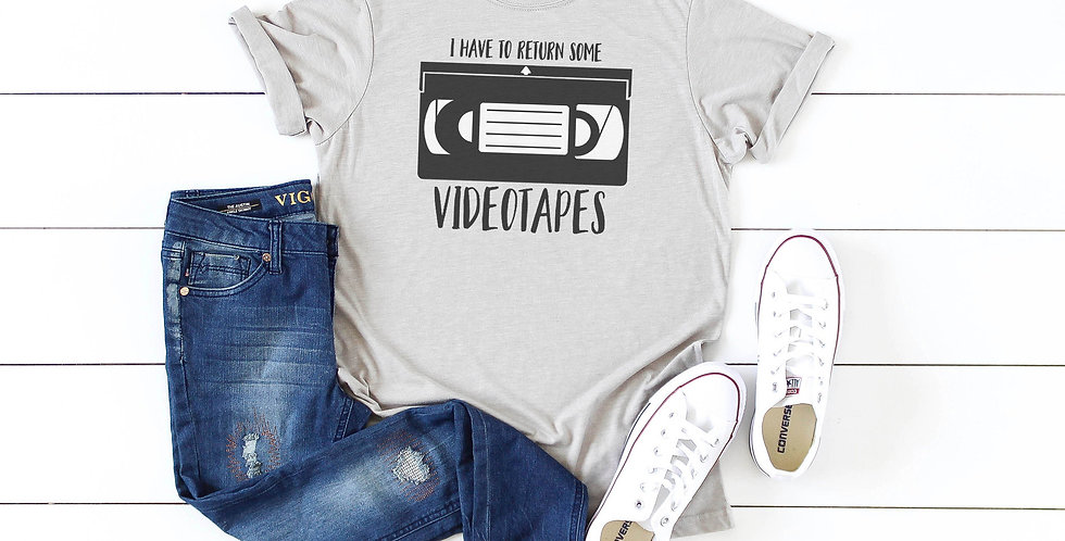 American Psycho I have to return some videotapes - crew neck tee - unisex siz...