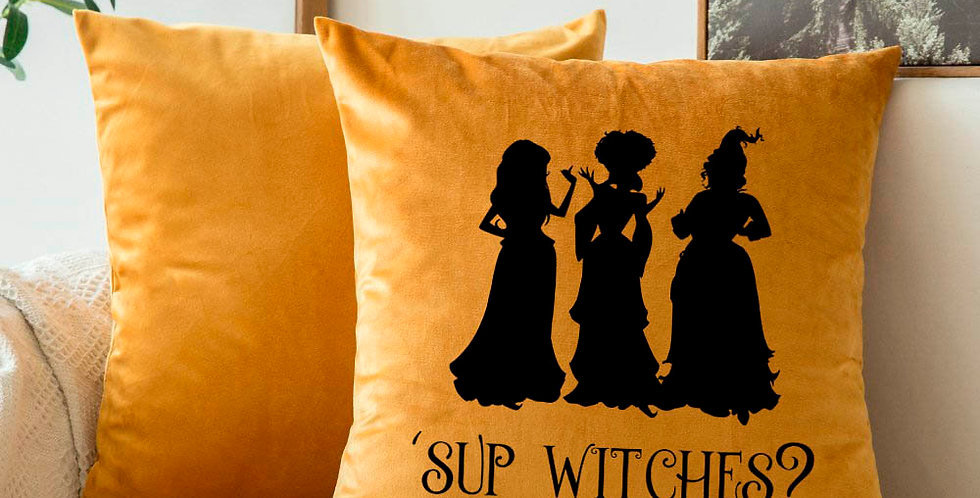 Hocus Pocus inspired - Halloween pillow cover - Sup wit...