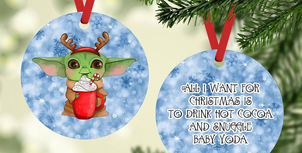 All I want for Christmas is...Baby Yoda ornament