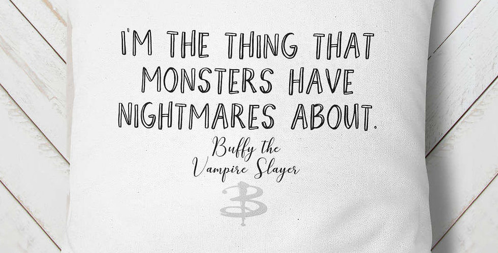 Buffy the Vampire Slayer - 18x18inch pillow cover - TV quote pillow cover - e...