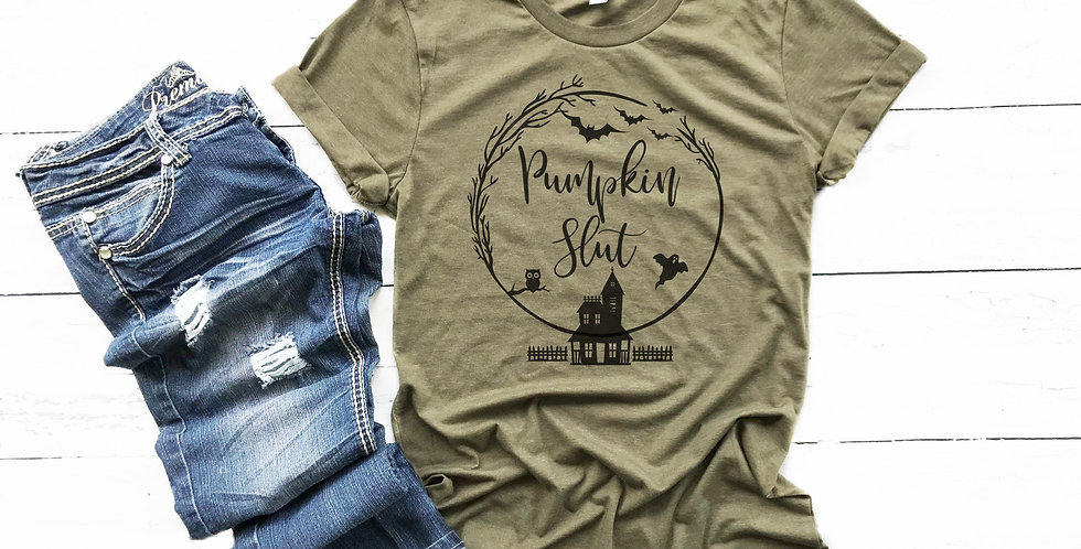 Pumpkin Slut t-shirt - crew neck tee - unisex sizes - machine washable - eco ...