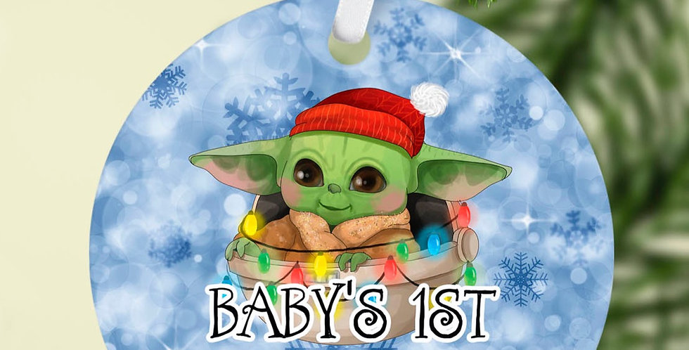 Baby's First Christmas ornament Baby Yoda