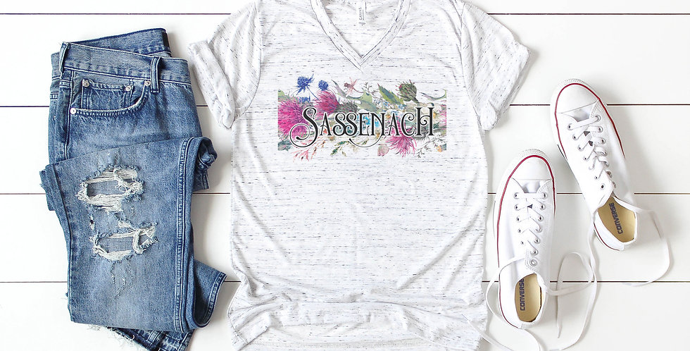 Outlander Sassenach - v neck tee shirt - unisex sizes extra small-2XL - faux ...