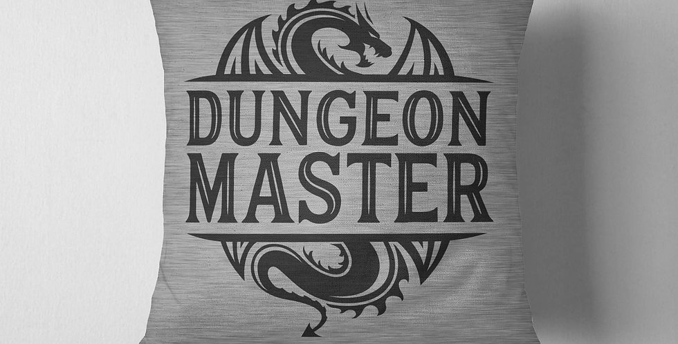 Dungeon Master pillow cover - fiber arts - home textiles - machine washable -...