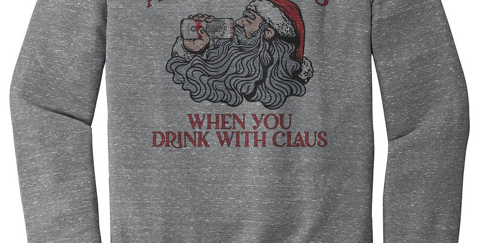 Aint's no laws when you drink with claus - santa claus sweatshirt - claws par...