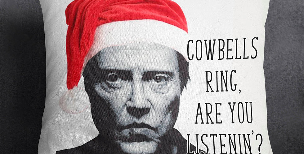 More cowbell! - Christmas pillow cover - SNL - 18x18inch pillow cover - cowbe...
