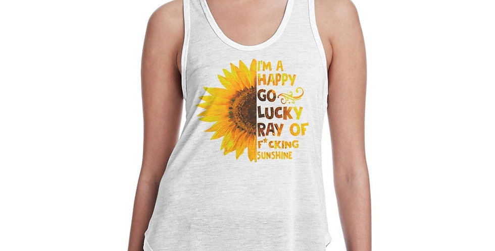 Mature Listing - I'm a happy go lucky ray of f*cking sunshine - tank top - ma...